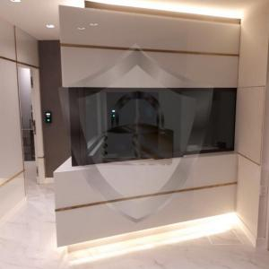 Guarita com vidro blindado